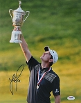 Justin Rose Signed US Open 11 x 14 Photo PSA