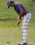 Rickie Fowler Signed 11 x 14 Photo PSA