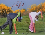 Padraig Harrington & Ian Poulter Signed 11 x 14 Photo PSA