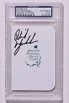 Phil Mickelson Signed Masters Scorecard PSA