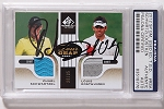 Schwartzel & Oosthuizen  Signed 2012 SP Game Used   PSA