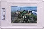 Arnold Palmer Signed Pebble Beach Scorecard PSA