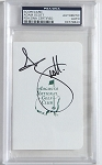 Adam Scott Signed Masters Scorecard PSA