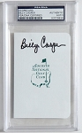 Billy Casper Signed Masters Scorecard PSA