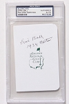 Errie Ball Signed Masters Scorecard PSA