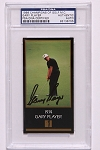 Gary Player Signed Black Masters Card PSA