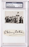 Henery Cotton Signed Cut w/ 1936 Tobacco Card