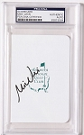 Mike Weir  Signed Masters Scorecard PSA