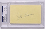 Julius Boros Signed Index Card PSA