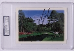 Multi Signed Masters Greeting Card PSA