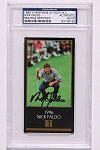 Nick Faldo Signed Black Masters Card PSA