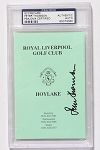 Peter Thomson Signed Liverpool Scorecard PSA