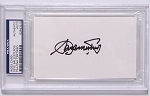 Seve Ballesteros Signed Index Card PSA