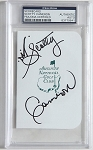 Scotty Cameron  Signed Masters Scorecard PSA