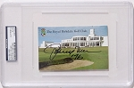 Johnny Miller Signed Birkdale Scorecard PSA