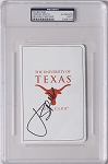 Jordan Spieth  Signed University of Texas GC  Scorecard PSA