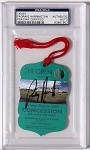 Padraig Harrington  Signed 2007 Open Championship Ticket  PSA/DNA