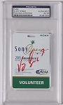 Vijay Singh  Signed 2005 Sony Open Golf  Ticket  PSA/DNA