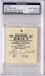 Lee Trevino Signed 1971 Open Championship Ticket  PSA/DNA