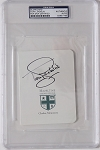 Tony Jacklin Signed Hazeltine  Scorecard PSA