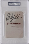 Phil Mickelosn Firestone Signed Scorecard PSA