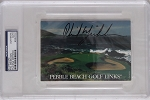 Phil Mickelosn Pebble Beach Signed Scorecard PSA