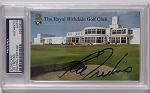 Lee Trevino Signed Royal Birkdale Scorecard  PSA