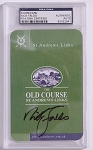 Nick Faldo Signed St Andrews Scorecard PSA