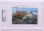 Tom Kite Signed Pebble Beach Scorecard PSA