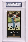Tom Watson Signed Black Masters Card PSA
