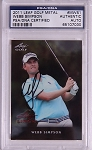 Webb Simpson Signed 2011 Leaf Metal  PSA