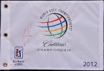 Justin Rose Signed 2012 WGC Flag JSA