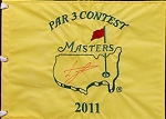 Luke Donald Signed Masters Par 3 Flag PSA
