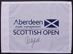 Phil Mickelson Signed 2013 Scottish Open Flag JSA