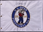 Martin Kaymer  Signed US Open Flag Beckett