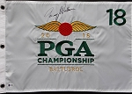Jimmy Walker  Signed PGA Championship Flag Beckett Authentic