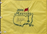 Phil Mickelson Signed 2006 Masters Flag JSA
