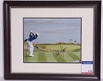 Dustin Johnson Signed & Framed 11 x 14 Photo PSA