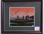 Graeme McDowell & Dustin Johnson Signed & Framed 11 x 14 Photo PSA