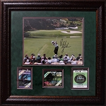 Phil Mickelson Signed & Framed 11 x 14 Photo w/ 3 Masters Badges   PSA/DNA
