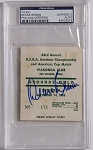 Deane Beman Signed 1963  Wakonda Club  US Amateur Champ Ticket  PSA