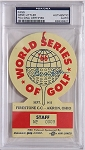 Gene Littler  Signed 1966 World Series of Golf  Ticket  PSA