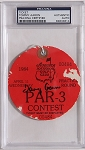 Tommy Aaron  Signed 1984  Masters Par 3 Ticket  PSA