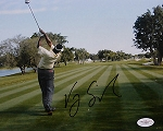 Vijay Singh  Signed 8 x 10 Photo JSA
