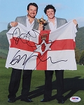 Graeme McDowell  & Rory McIlroy Signed 8 x 10 Photo PSA