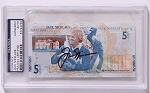 Jack Nicklaus Signed 5 Pound Banknote PSA