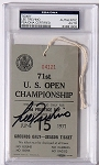 Lee Trevino Signed 1971 US Open  Ticket  PSA/DNA
