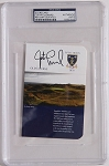 Justin Leonard  Signed Troon Scorecard PSA