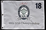 Padraig Harrington Signed PGA Championship Flag PSA