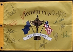 2010 European Team Signed Ryder Cup Flag PSA